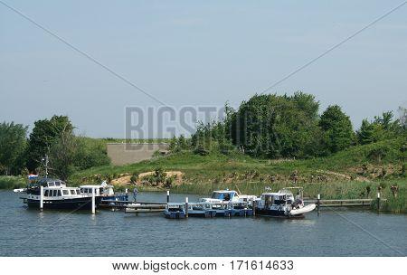 Cruiser,recreation In The Biesbosch National Park,