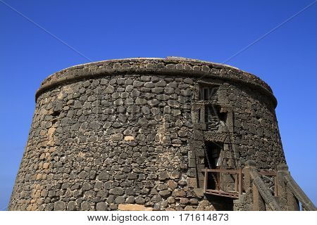 Toston Tower Castle In El Cotillo. Fuerteventura