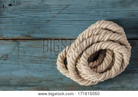 white rope on the wood