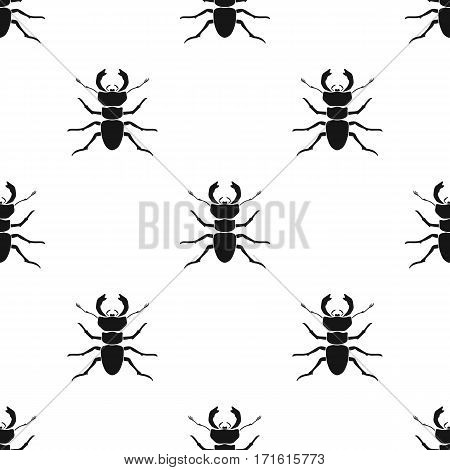 Forest red ant icon in black design isolated on white background. Insects pattern stock vector illustration.