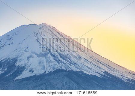 Mountain Fuji view from the Kawaguchiko lake Kawaguchi sunset