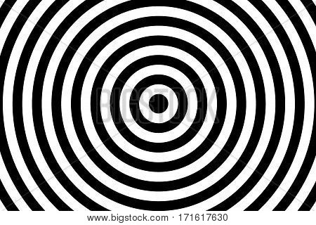 Illustration of black and white concentric circles