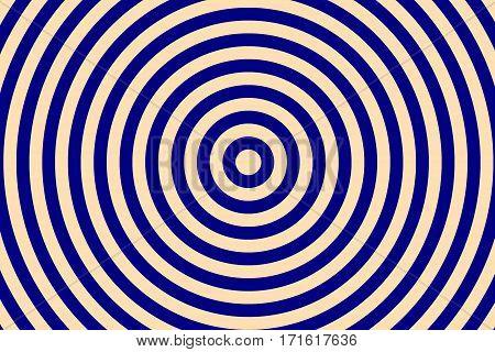 Illustration of dark blue and vanilla colored concentric circles