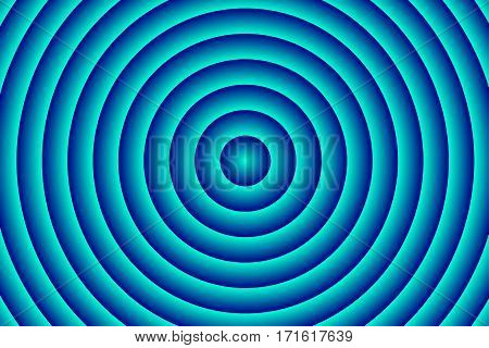 Illustration of dark blue and cyan concentric circles