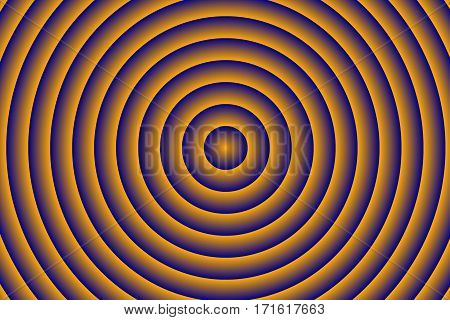 Illustration of dark blue and orange concentric circles