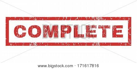 Complete text rubber seal stamp watermark. Tag inside rectangular banner with grunge design and unclean texture. Horizontal vector red ink emblem on a white background.