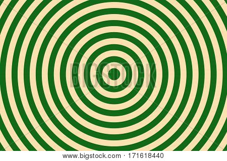 Illustration of dark green and vanilla colored concentric circles