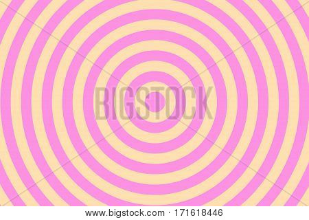 Illustration of pink and vanilla colored concentric circles