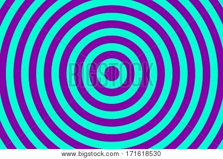 Illustration of purple and cyan concentric circles