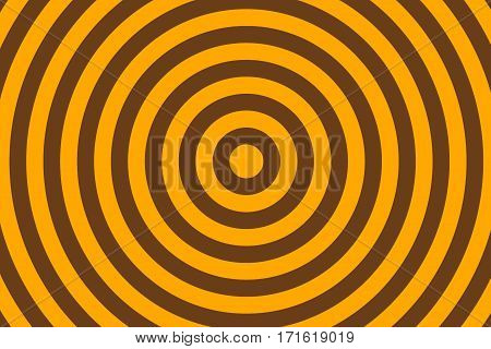 Illustration of brown and orange concentric circles