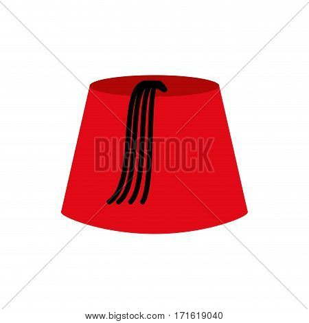 Turkish Cap Isolated. Turkey Hat From On White Background