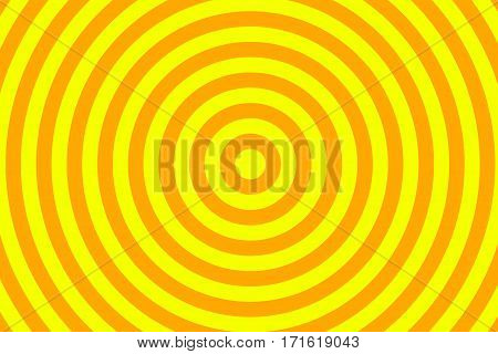 Illustration of yellow and orange concentric circles