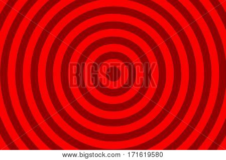 Illustration of dark red and light red concentric circles