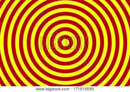 Illustration of red and yellow concentric circles