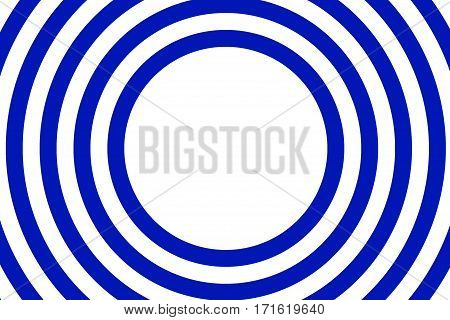 Illustration of dark blue and white concentric circles with space in the center
