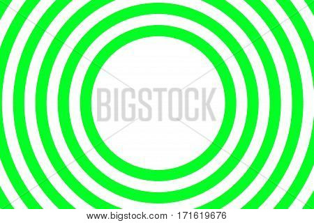 Illustration of green and white concentric circles with space in the center