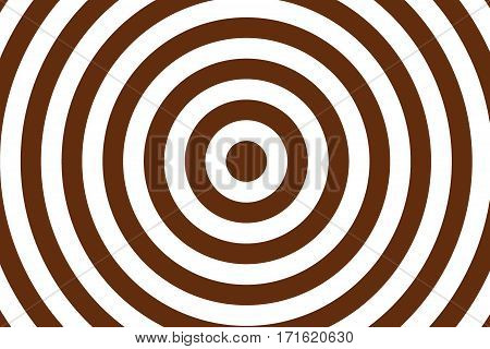 Illustration of brown and white concentric circles