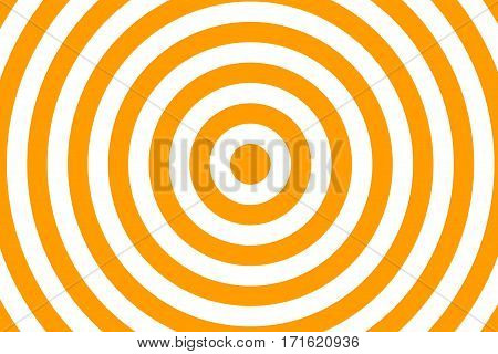 Illustration of orange and white concentric circles