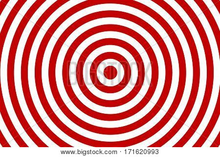 Illustration of red and white concentric circles