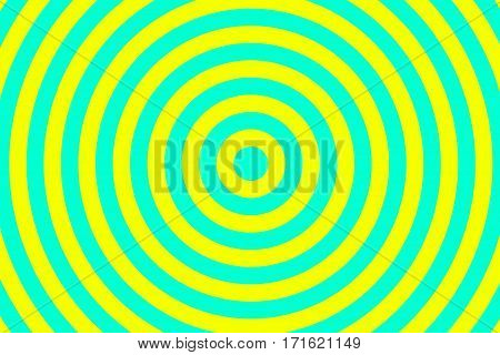 Illustration of cyan and yellow concentric circles