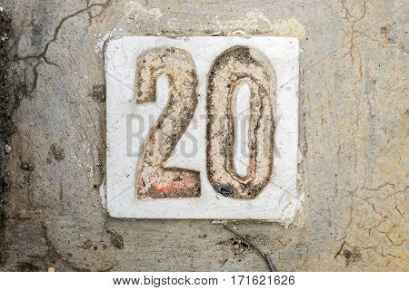 The Digits With Concrete On The Sidewalk 20