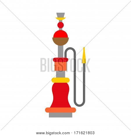 Hookah Isolated. Device For Smoking On White Background