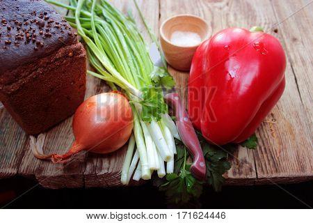 table  pepper  rural  food  raw  vegetable  rustic  recipe wood rural seasoning cooking food