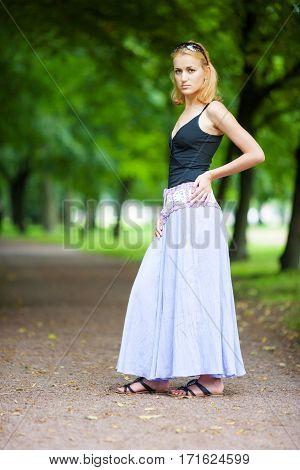 Sad Woman Standing