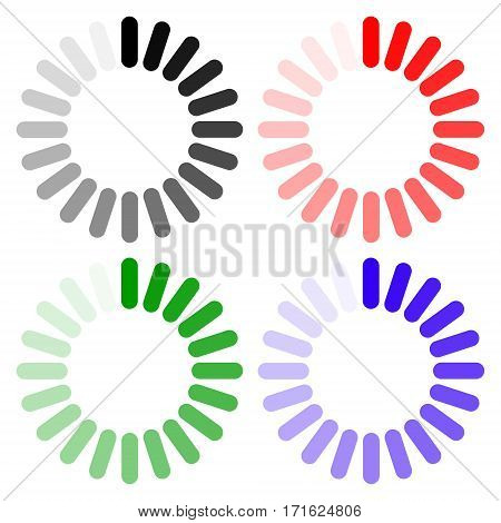 Loading icon. Indicator for loading progress, Download sign on transparent background.  Data loadi bar. Vector stock illustration