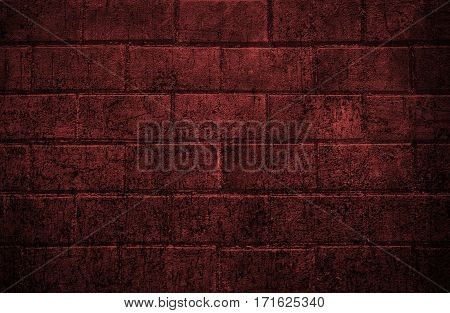 Abstract image of a brick wall red. Grunge brick wall. Brick, brick wall texture, brick wall background. Red grunge. Grunge. Grunge background. Dark background. Grunge style.