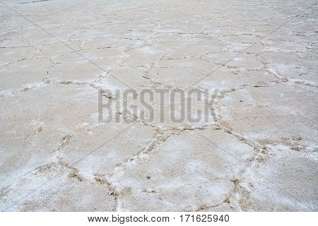 A Texture of  Salinas Grandes in Argentina