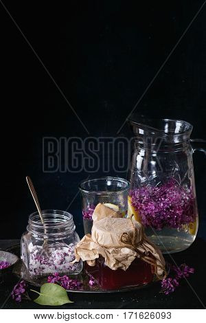 Jar Of Lilac Syrup