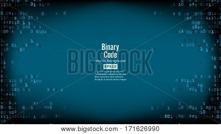 Binary Code Background Vector. High-Tech Matrix Background