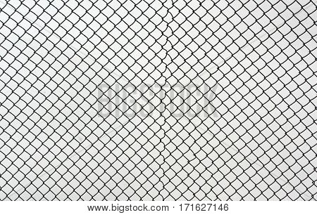 Mesh Wire Fence Against Snow.