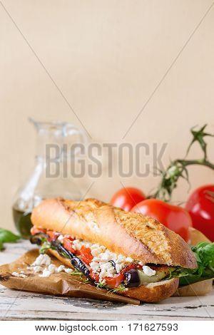 Vegetarian Baguette Sandwich