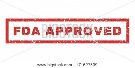 FDA Approved text rubber seal stamp watermark. Caption inside rectangular banner with grunge design and unclean texture. Horizontal vector red ink sign on a white background.