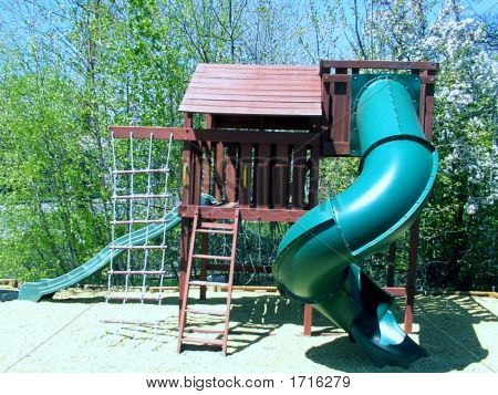 Children's Playhouse, Playground, Sandbox, Slide