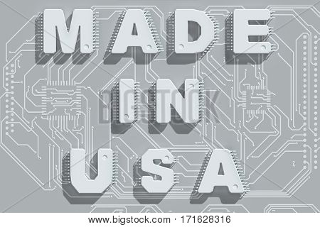 Electronic circuit board with text