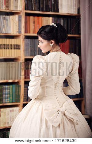 Fine Art Portrait Of A Bride In Vintage Dress