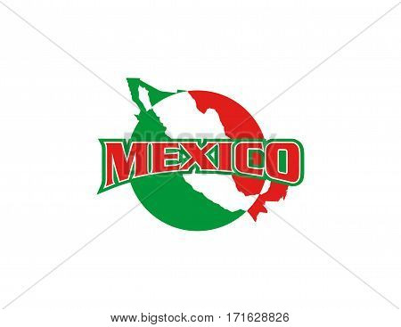 design of a mexican map on white background