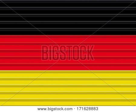 Abstract horizontal version of a german flag