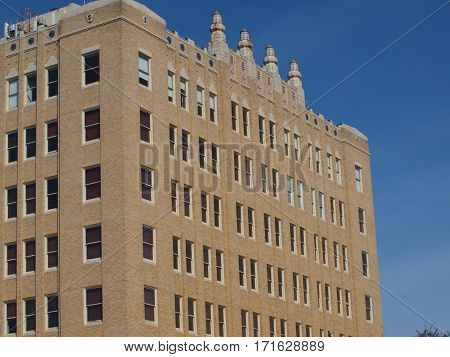 One of the taller buildings in Oak Cliff on Jefferson Avenue.