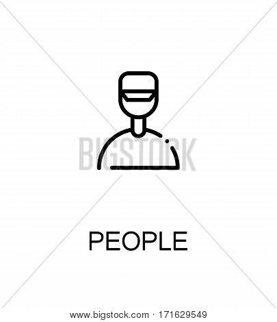 People icon. People single high quality outline symbol for web design or mobile app. Thin line sign for design logo. Black outline pictogram on white background