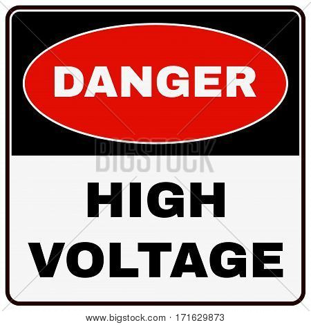 High Voltage Danger Sign. Stock Vector illustration