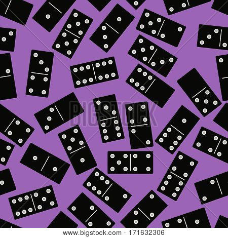 seamless background with dominoes. vector illustration. flat