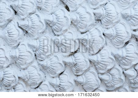 Closeup to Stack of White Scale Background/ Texture
