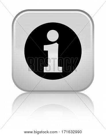 Info Icon Shiny White Square Button