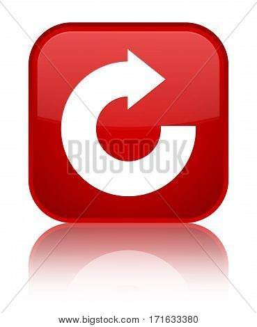 Reply Arrow Icon Shiny Red Square Button