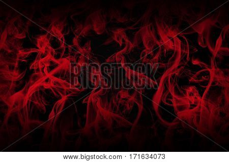 Love Concept. Black Background Full Of Red Smoke 3D Illustration