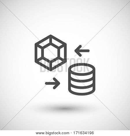 Pawnshop line icon isolated on grey. Vector illustration